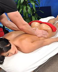 Sexy and seductive 18 year old Hungarian girl gets a rub down and a lot more!