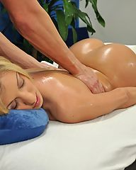 Hot 18 year old gets fucked hard by her massage therapist